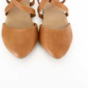 5/$30 Old Navy Tan Strappy Shoes Size 9m vguc